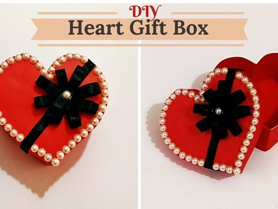 How to Make Heart.Love Shape Gift Box for Valentine. Birthday. Anniversary gifts ||  Craftastic