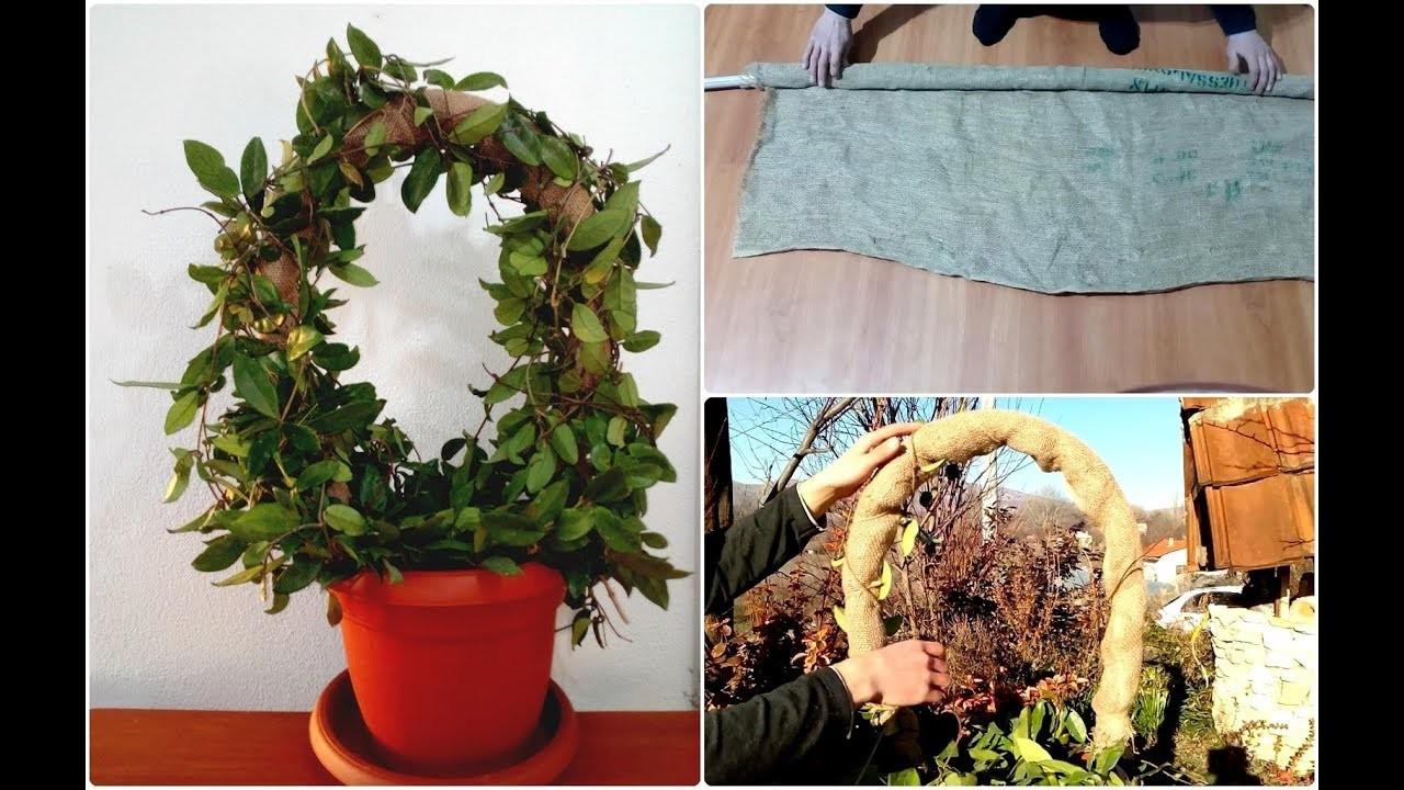 How to make Hoya houseplant Wreath very easy