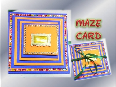 How to make maze card. Scrapbook cards. Valentine day gift ideas