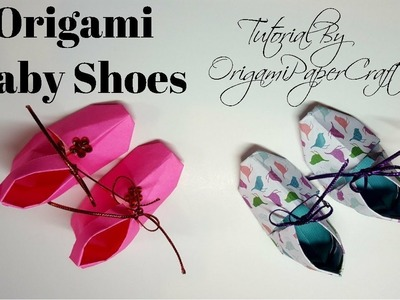 How to Make Origami Baby Shoes   Tutorial By OrigamiPaperCraft