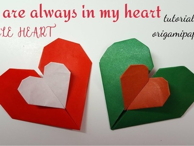 How To Make Origami DOUBLE HEARTS (You are always in my heart)  by Andrey Lukianov