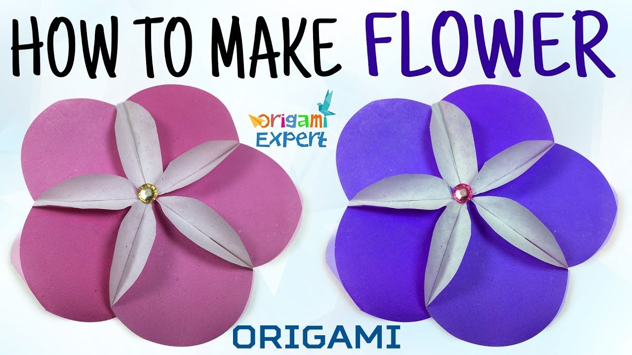 How To Make Origami Flower Origami Flower Lily Origami Flower Easy