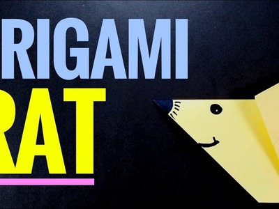 How To Make Origami Rat - Step by Step Origami Easy Tutorial for Beginner #OrigamiAnimal