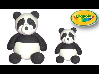How to make Panda from Crayola Model Magic