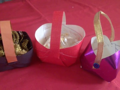 How to make paper basket in kannada