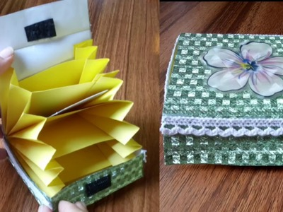How to make paper box. Very easy Box tutorial.