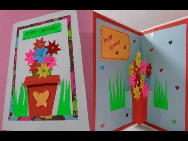 How To Make Pop Up Birthday Card For Your Dear Ones