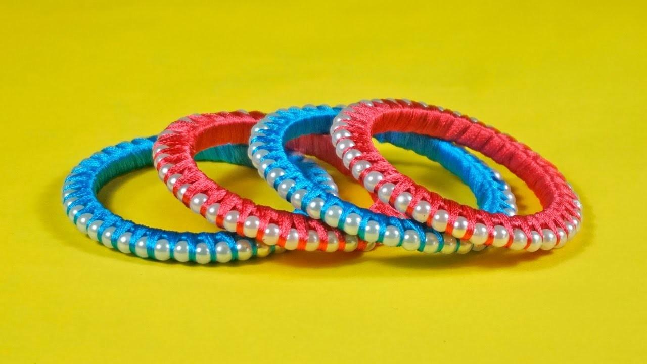 How to make Silk Thread Diy Bangles | Turn Your Old Bangles in to New Silk thread Designer Bangles