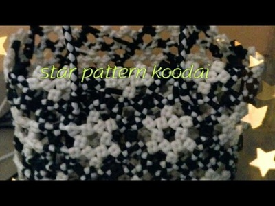 How to make star pattern koodai part 2