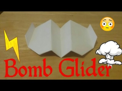How to Make the Bomb Glider Paper Airplane!!!!! Easy, for Beginners!!!