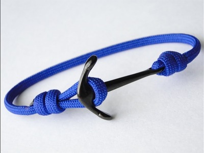 How to Make the Easiest Anchor Charm.Nautical Paracord Bracelet