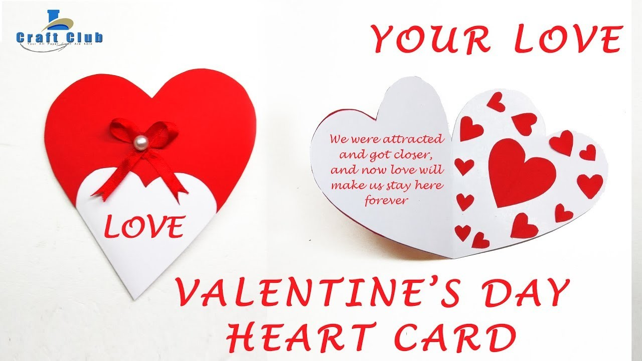 How to Make Valentine's Day Heart Greeting Card (Step by Step DIY) Lina's Craft Club