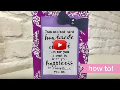 How To: Quick Card with Christina Griffiths Rectangle Nesting Frames