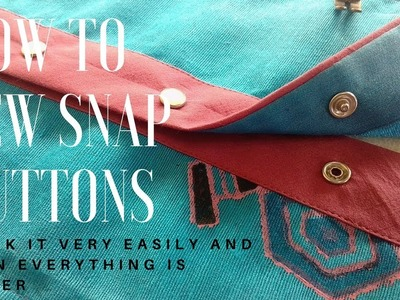 How to sew snap buttons placket [snap buttons how to attach] diy