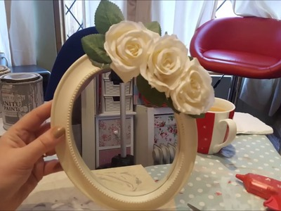 How to Shabby Chic a £1 Poundland Mirror - Complete for under £2!
