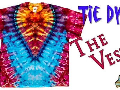 How to Tie Dye:  The Vest  [Ice Dye]