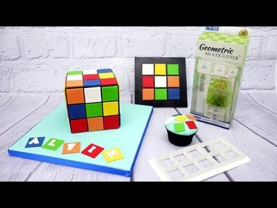 How To Use The PME Square Geometric Multicutters Set To Decorate A Rubik's Cube Cake