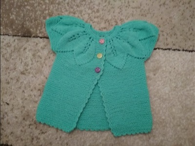 Knitting baby Cardigan for girls.  Part 2