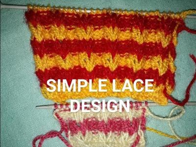 KNITTING DESIGN IN HINDI|LACE DESIGN |KNITTING