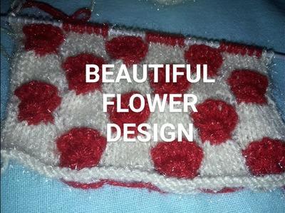 KNITTING FLOWER DESIGN NICE N BEAUTIFUL DESIGN