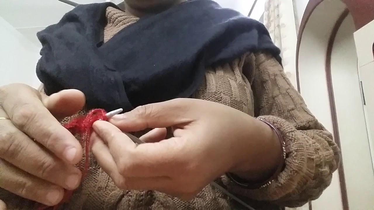 Knitting|| Tutorial lesson- 2|| for beginners
