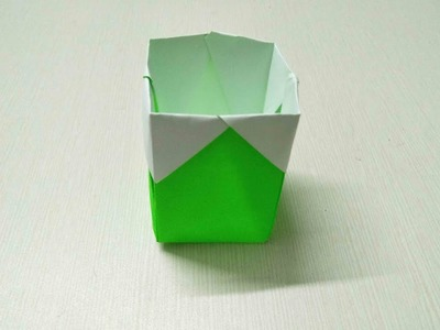 """Learn how to make """"Paper Dustbin""""  step by step"""