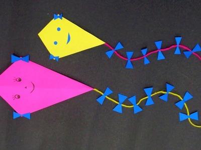 Makar Sankranti | How to make a decorative Paper Kite | Pongal Special | Patang
