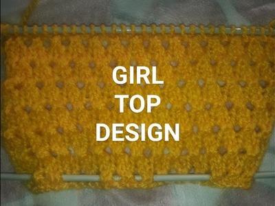 NEW KNITTING DESIGN FOR GIRL TOP DESIGN