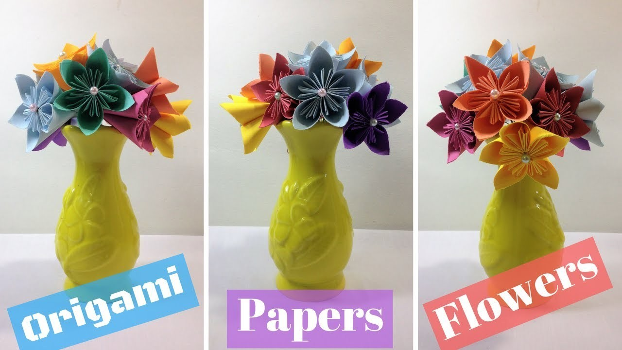 Origami Flowers Easy Tutorial How To Make Paper Flowers Paper