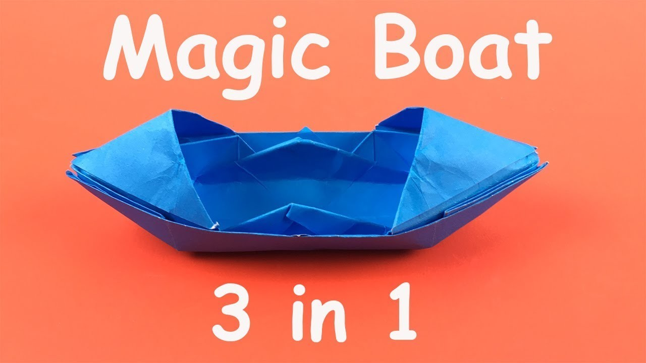 Origami Magic Boat 3 in 1 | How to make a boat made of paper