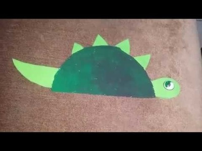 Paper Plate Crafts. how to make dinosaur from paper plate. paper plate animals