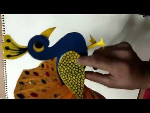 Rajni sharma art & craft club how to make our national bird peacock.