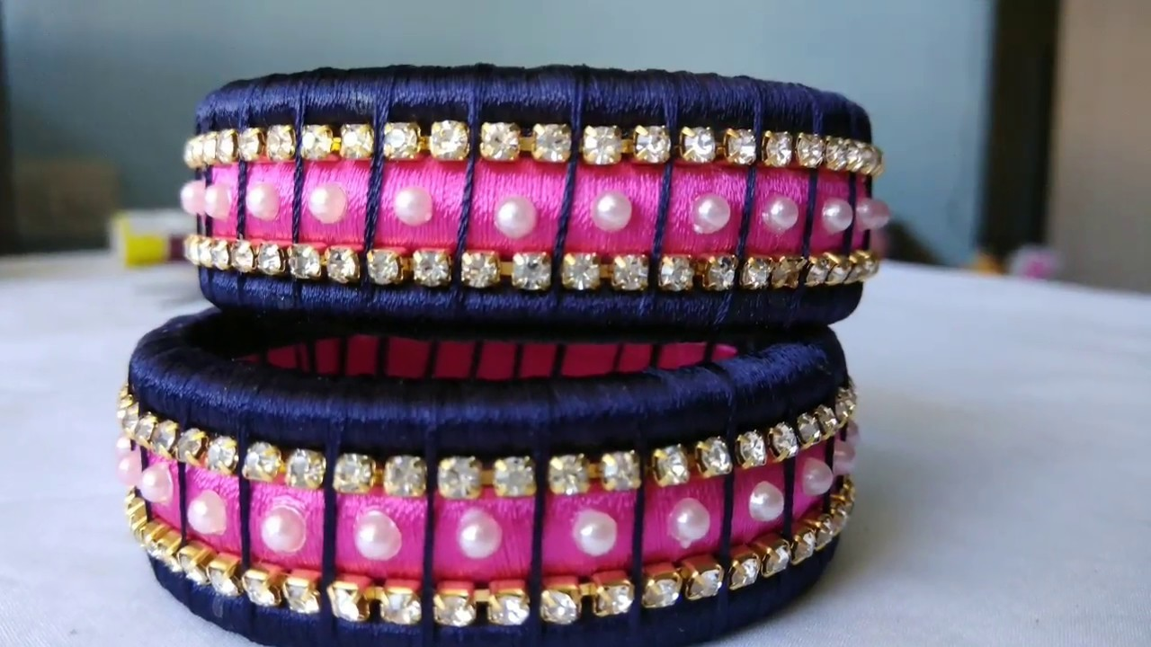 Silk Thread Designer  Bangle|| How to Join Silk Thread Bangles
