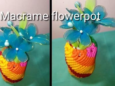 Simple Macrame Flower pot. how to make macrame flower pot