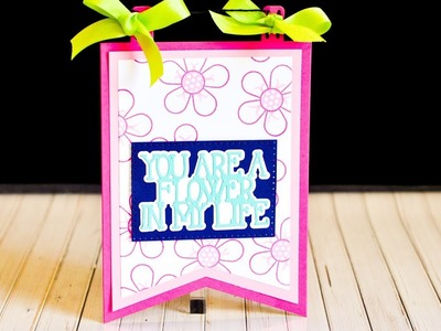 Stephanie's Stamp Pad #106 - How to Make a Die-Cut Banner
