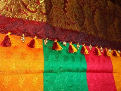 Stone Saree kuchu design. How to make saree kuchu