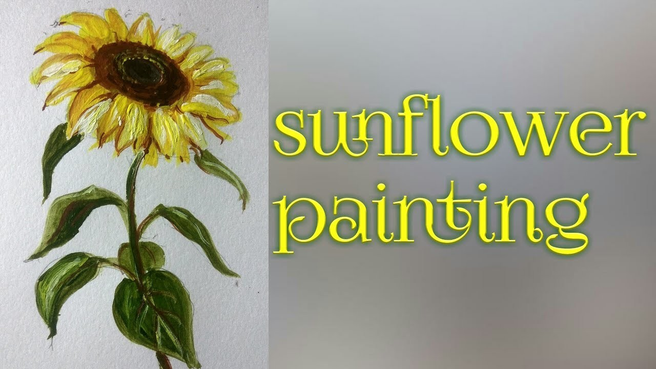 Sunflower painting| how to draw and paint sunflower in acrylic