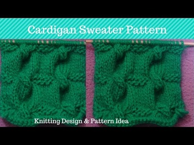 Sweater design for Women || Knitting Pattern for ladies Cardigan SWeater || In Hindi.