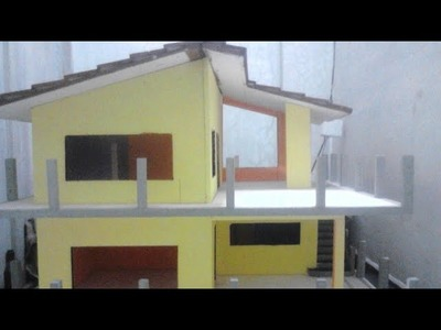 Thermocol House project 2018 , how to make thermocol house project , easy thermocol house for kids