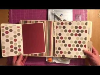 Tutorial on how to make a file folder album Fancy Pants Part 1