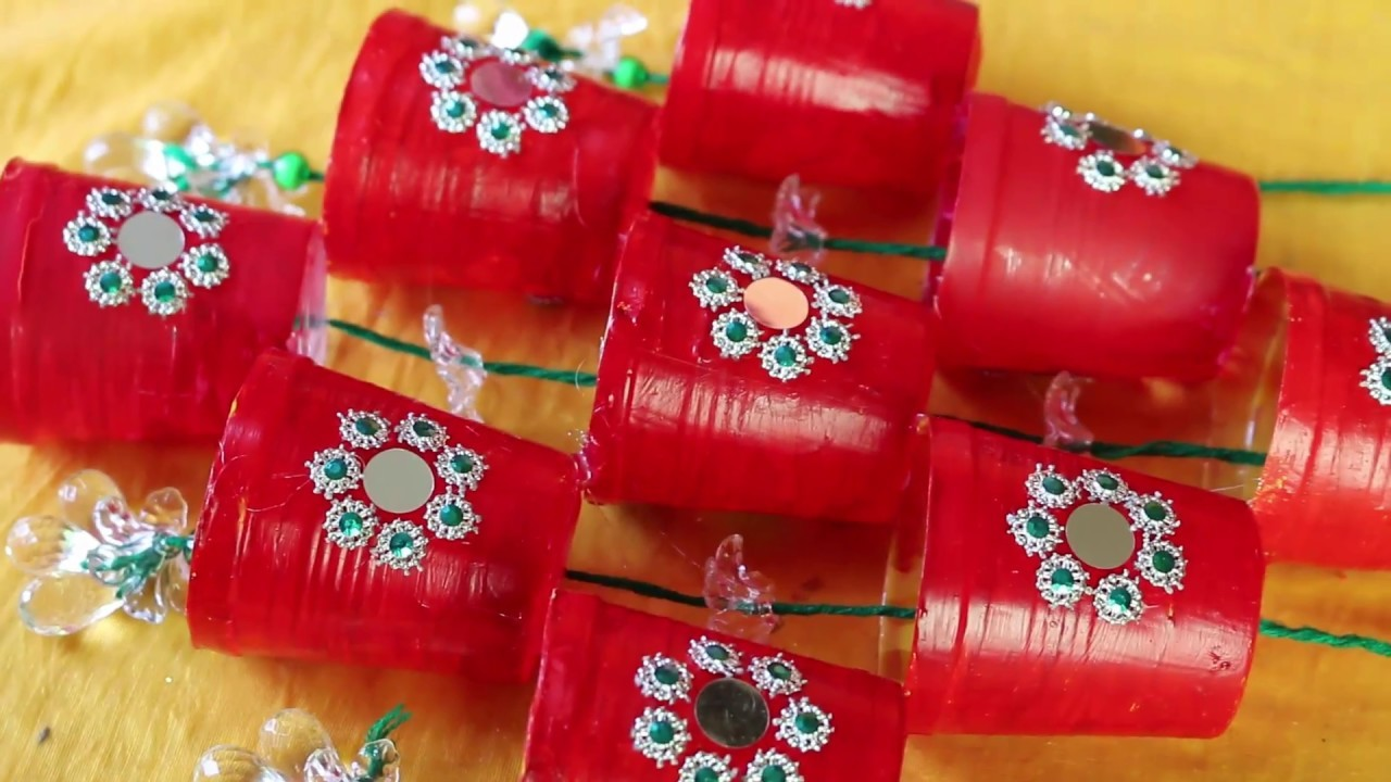 WOW! Amazing Idea of Wind Chime    How To Make Beaded Door.Wall Hanging With Disposable Tea Cups
