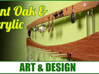 Acrylic and Bent Oak Jewelry Hanger   WWMM ART & DESIGN