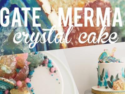 Agate Mermaid Crystal Cake   Satisfying Cake Video   Greggy Soriano
