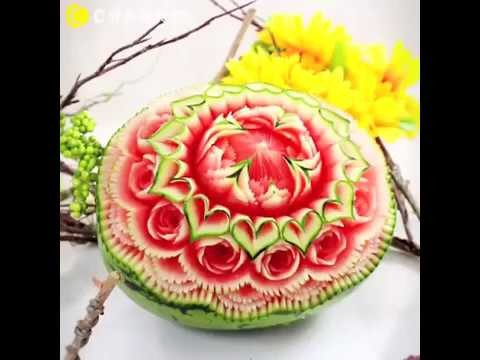 Amazing Craft Art on watermelon