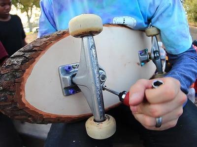 AMAZING TREE STUMP SKATEBOARDING | YOU MAKE IT WE SKATE IT EP 53