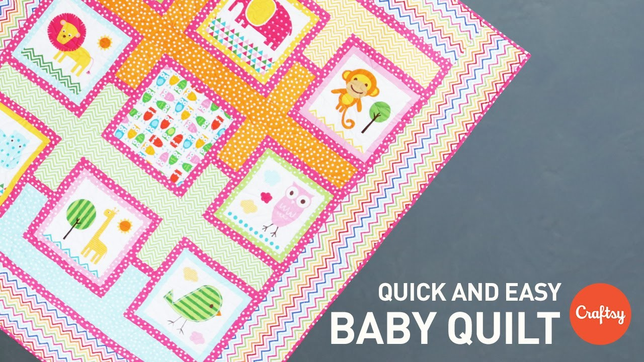 Baby Quilt Project (Quick & Easy!)   Quilting Tutorial
