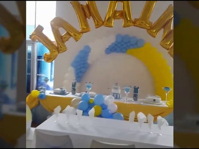 Balloon Arch (Baby Christening) Learn How to do