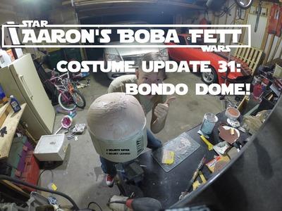 Boba Fett Costume Update 31: Helmet Part 2: Bondo Dome!