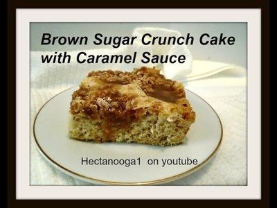 BROWN SUGAR CRUNCH CAKE WITH CARAMEL SAUCE RECIPE, vegan