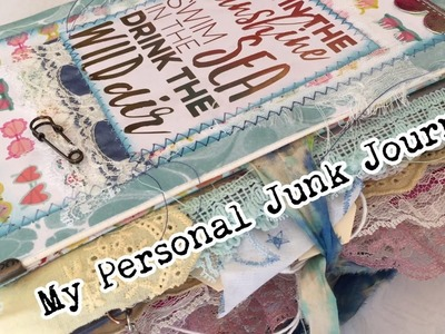 Complete Personal Junk Journal flip & What's in my Vacation Craft Bag   I'm A Cool Mom